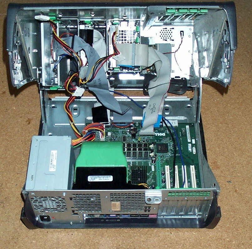 Inside a Dell Optiplex GX270 Tower Unit